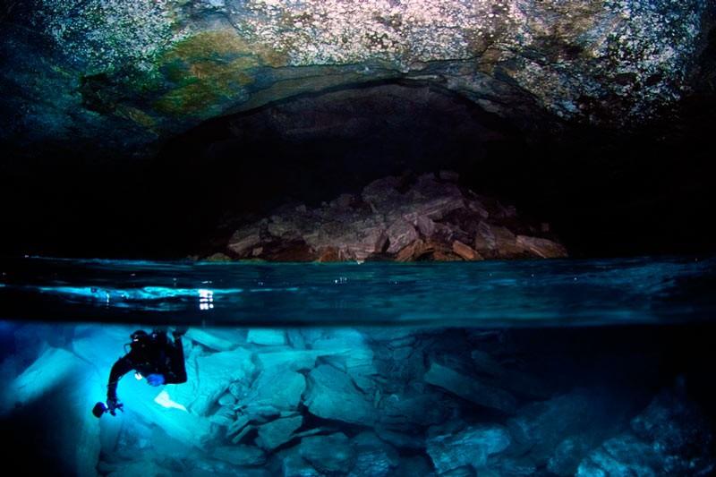 Сухий зал в Ординскій печері