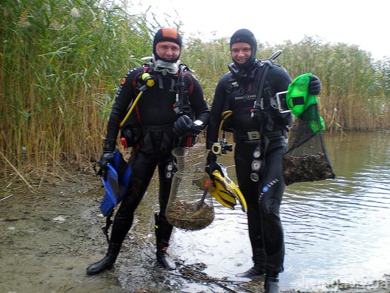 Дайвінг та ловля раків на озері Дідово