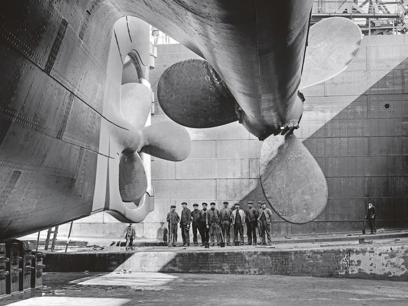 Гігантські гвинти лайнера «Олімпік»