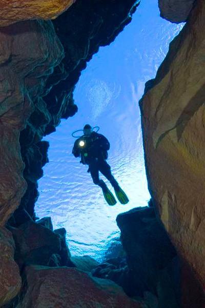 Холодноводне занурення в ущелину Сільфра (Silfra)