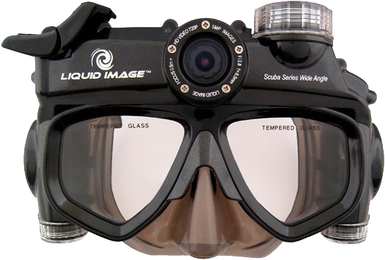 Маска для плавання з відеокамерою