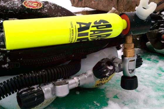Заправка Spare Air на морозі